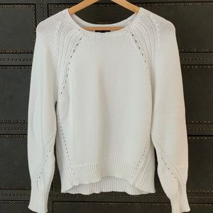 J.Crew White Cotton Sweater